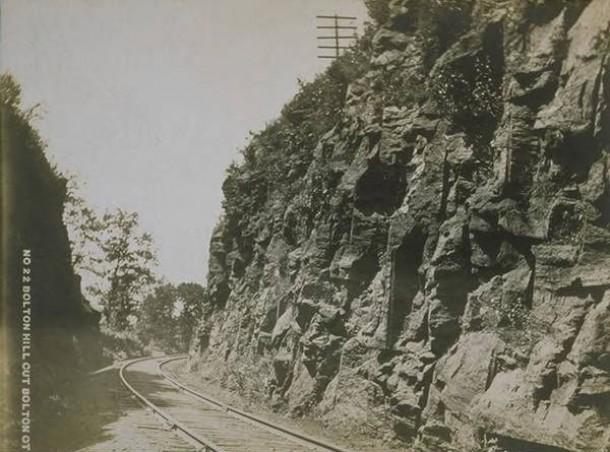 Railroad tracks, Bolton Hill Cut, Bolton
