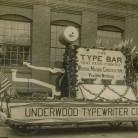Parade float of Underwood Typewriter Company, Hartford