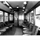 Trolley interior, Branford Electric Railway - Trolley Museum