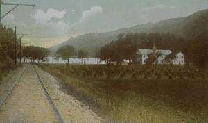 Railroad tracks leading to Lake Compounce, Bristol