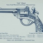 "Advertising leaflet for the ""Cal"" Pistol, J. & E. Stevens Co., Cromwell"