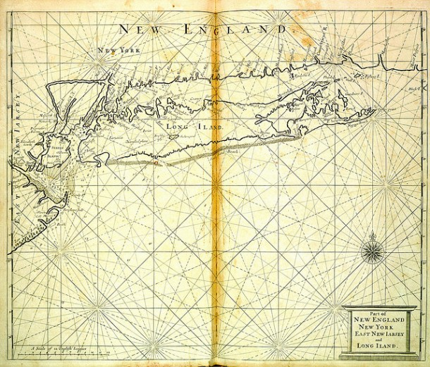 Part of New England, New York, East New Jersey and Long Iland (sic) by John Thornton and Richard Mount
