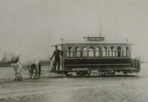 First horse car in Hartford, ca. 1895