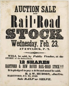 Sale of Hartford & New Haven rail-road stock, 1842