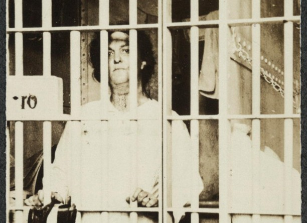 Suffragette Helena Hill Weed of Norwalk, serving a 3 day sentence in D.C. prison for picketing July 4, 1917