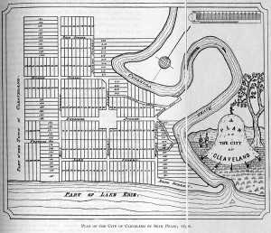 Plan of the City of Cleveland by Seth Pease