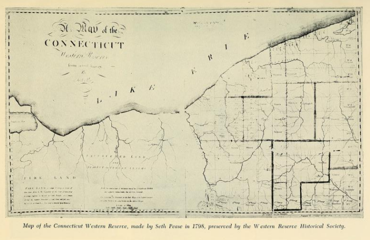 Illustration of A map of the Connecticut Western Reserve from actual survey by Seth Pease