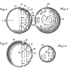Game ball patent filed Feb. 18, 1954
