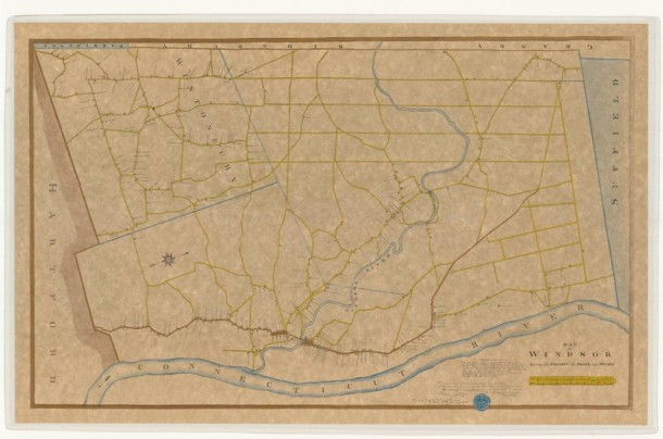 Copy of Map of Windsor, shewing the parishes, the roads, and houses by Seth Pease