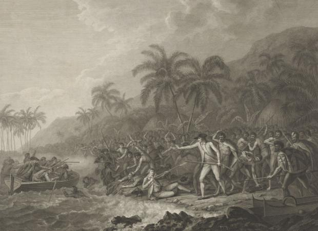 Francesco Bartolozzi, The Death of Captain Cook, 1784, engraving