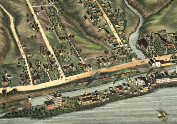 Detail from the map View of Windsor Locks, Conn. 1877