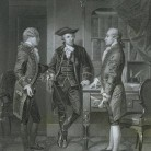 Baron DeKalb introducing Lafayette to Silas Deane