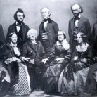 Lyman Beecher family by Brady Studios, ca.1859 with later insets