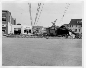 Flood damage on Main and East Main Street Torrington, August 21, 1955