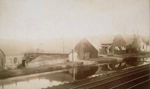 Factory beside canal, Windsor Locks