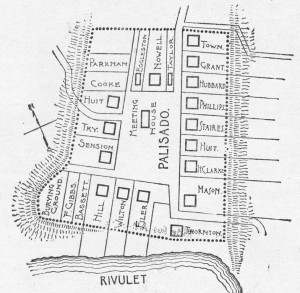 Plan of the Palisado, the original layout of the town of Windsor