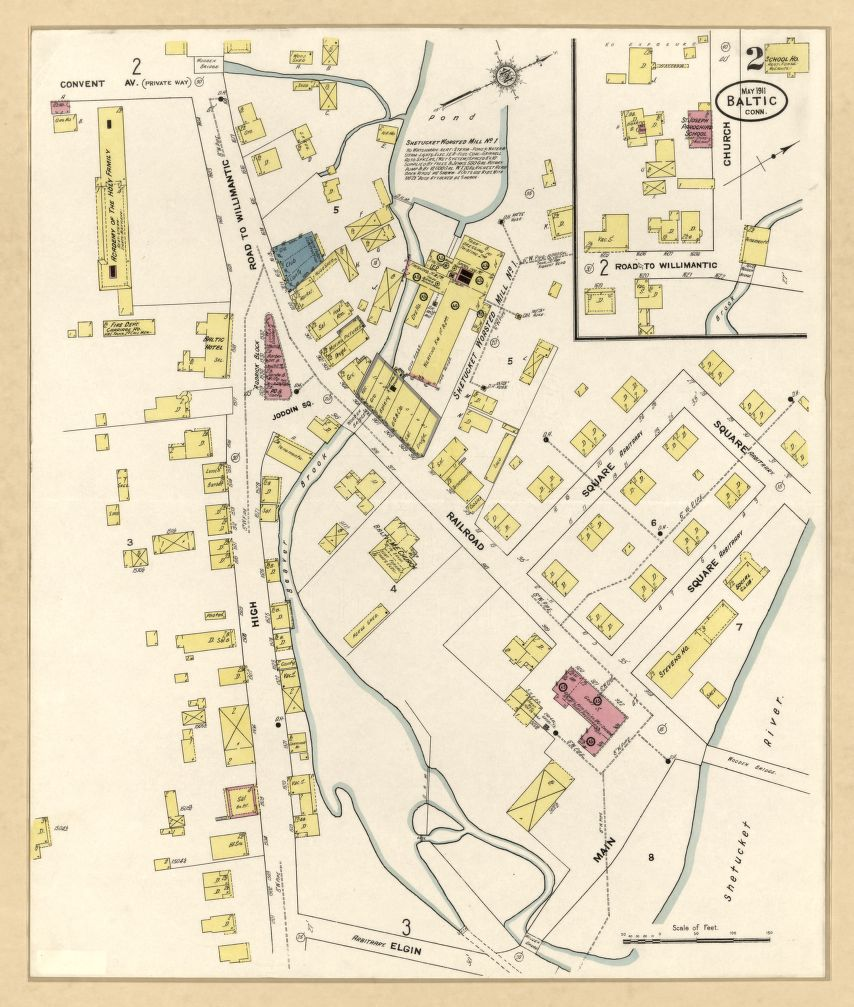 Sanborn Fire Insurance Map from Baltic