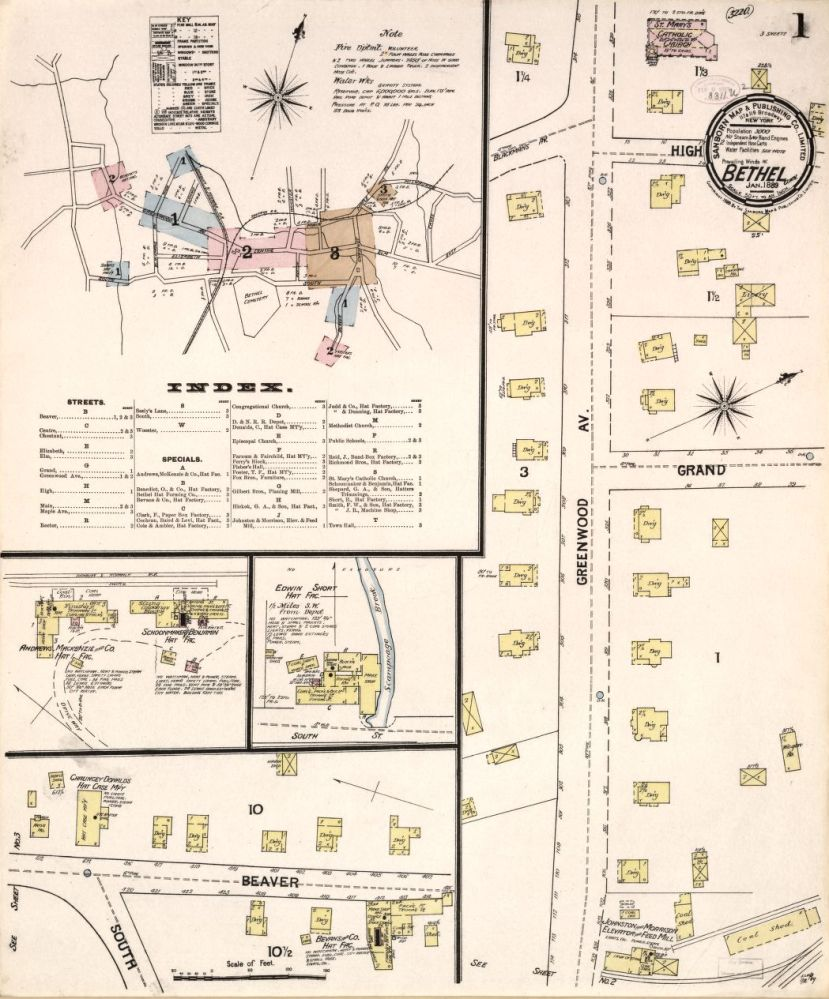 Sanborn Fire Insurance Map from Bethel