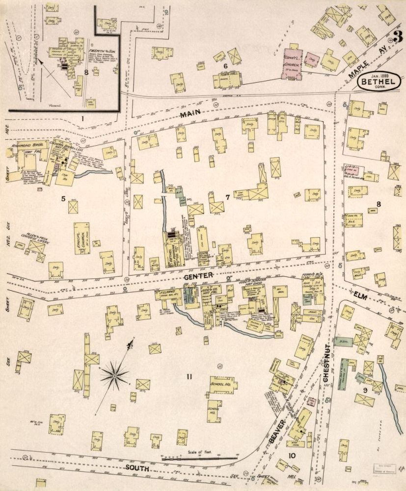 Map – Sanborn Fire Insurance Map for Bethel, Fairfield County ...