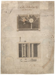 Eli Whitney's Cotton Gin Patent Drawing