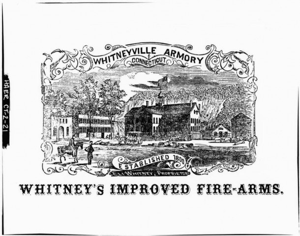 Whitneyville Armory, Whitney's Improved Fire-Arms, from an advertisement, ca. 1862