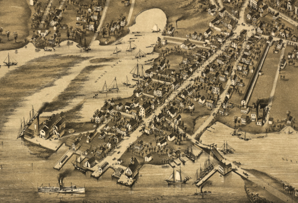 Detail from View of Essex, Centerbrook & Ivoryton, Conn. 1881