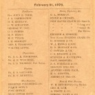List of Subscribers, February 21, 1878