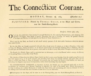 "Illustration of ""The Connecticut Courant"", Oct. 29, 1764"