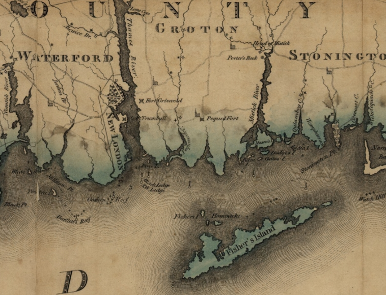 Detail from the map Connecticut, from actual survey