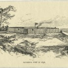 Illustration of Saybrook Fort in 1636