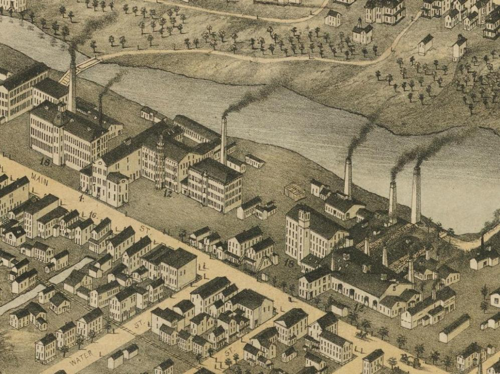 Detail from View of Ansonia, Conn. 1875