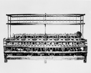 The oldest piece of cotton machinery in America the 48-spindle spinning machine built by Samuel Slater