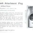 The Hubbell flush attachment plug