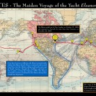 Map of the Maiden Voyage of the yacht Eleanor