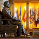 Governor Buckingham's Statue, Hall of Flags, State Capitol, dedicated June 18, 1884.