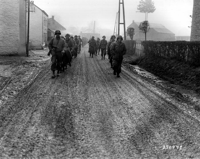 US troops of the 28th Infantry Division, Bastogne, Belgium