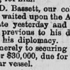 News clipping of Ambassador Bassett's appointment