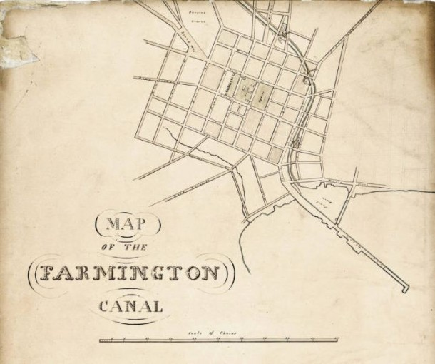 Detail from Map of the Farmington Canal