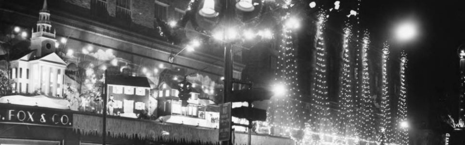 Christmas display, G. Fox, Hartford, 1959