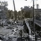 Laurel Street bridge construction, Hartford