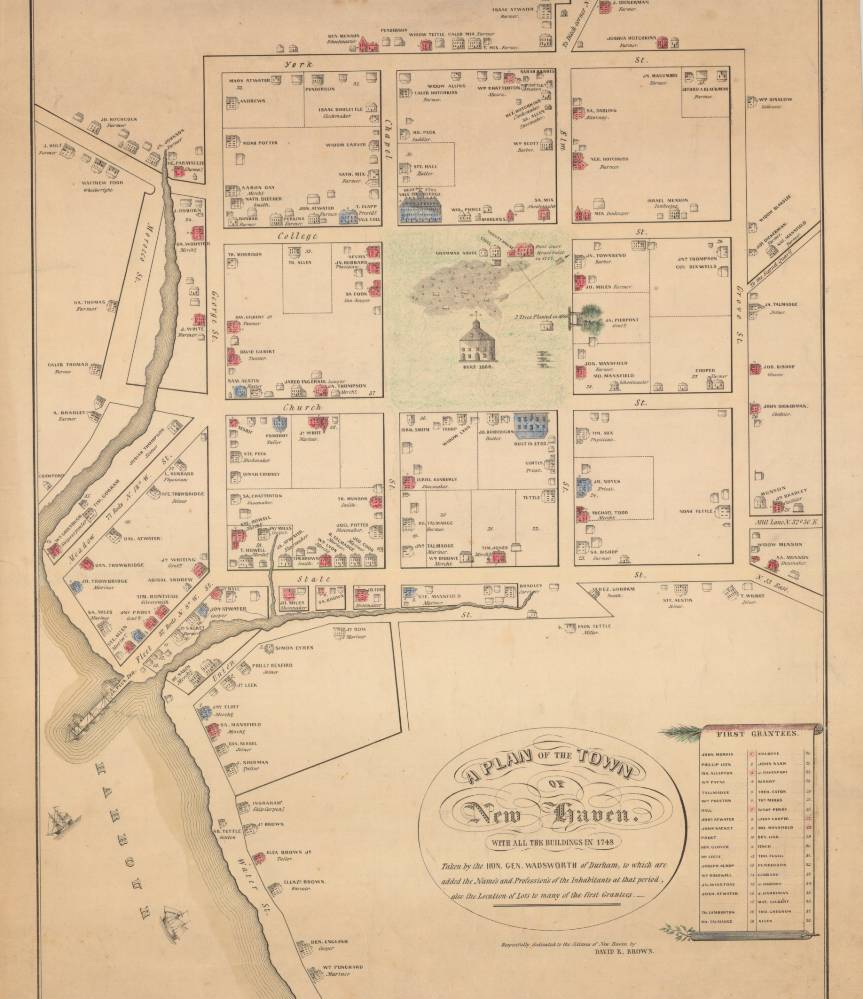 Plan of the Town of New Haven by James Wadsworth