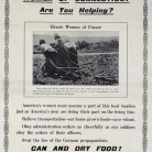 Poster from the Committee of Food Supply, Connecticut State Council of Defense