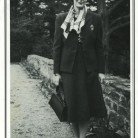 Photo taken in France of Caroline Ferriday, from the cover of Jacqueline Péry d'Alincourt's reminiscence of Ferriday given at Ferriday's 1990 memorial service in Bethlehem - Courtesy of Anna Jarosky, Connecticut Landmarks