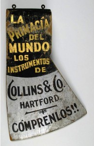Wooden trade sign, Collins Co., Hartford