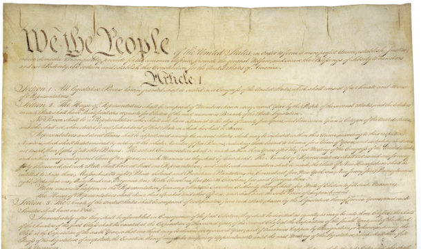Detail from the Constitution of the United States, 1787 - National Archives