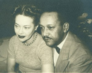 Fredi Washington and her husband, Dr. Hugh Anthony Bell