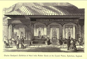 Goodyear's exhibit at the Crystal Palace Exhibition, London