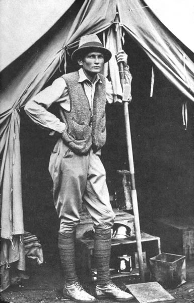 Hiram Bingham near Machu Picchu