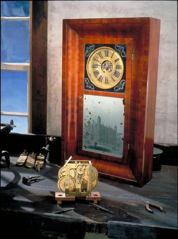 Noble Jerome clock patent model, 1839 - National Museum of American History
