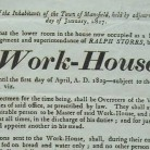 Detail from a broadside announcing changes to Mansfield's Poor-House, 1827 - Connecticut Historical Society and Connecticut History Online